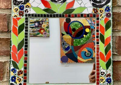 Mosaic flower mirror