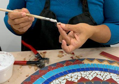 Gluing mosaic