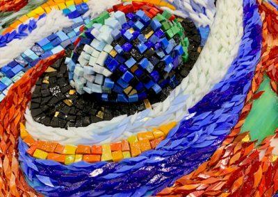 Mosaic layered glass