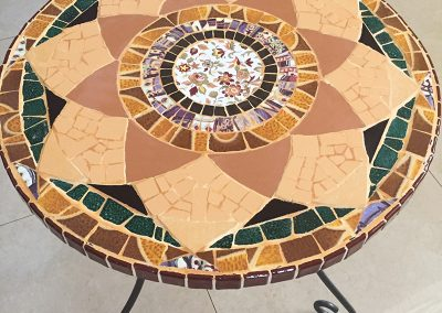 Mosaic-round-table